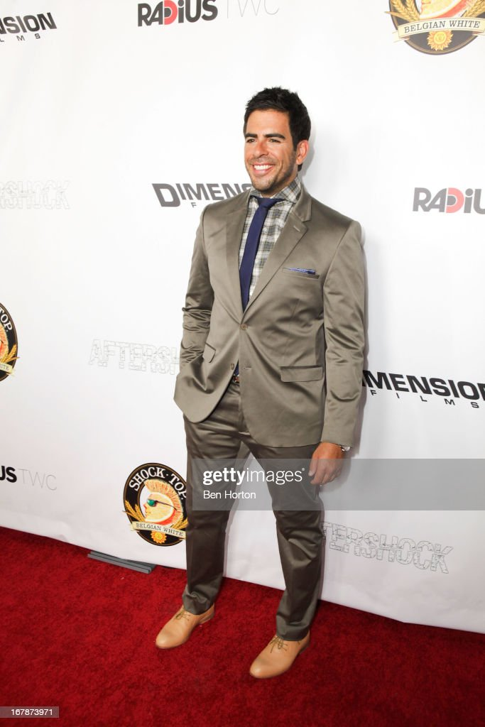 Producer writer and actor Eli Roth attends the premiere of 'Aftershock' at Mann Chinese 6 on May 1 2013 in Los Angeles California