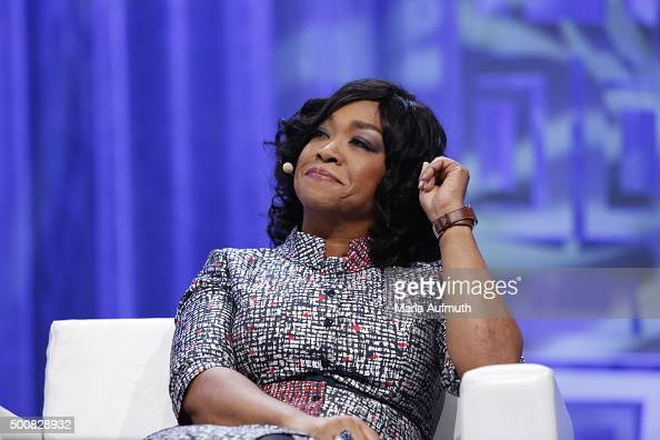 Producer writer 'Grey's Anathomy' 'Scandal' Shonda Rhimes speaks on stage during Massachusetts Conference For Women at Boston Convention Exhibition...