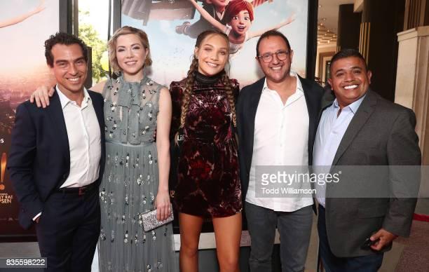Producer Yann Zenou actress/singer Carly Rae Jepsen actress/dancer Maddie Ziegler producer Laurent Zeitoun and actor Ricardo 'El Mandrill' Sanchez...