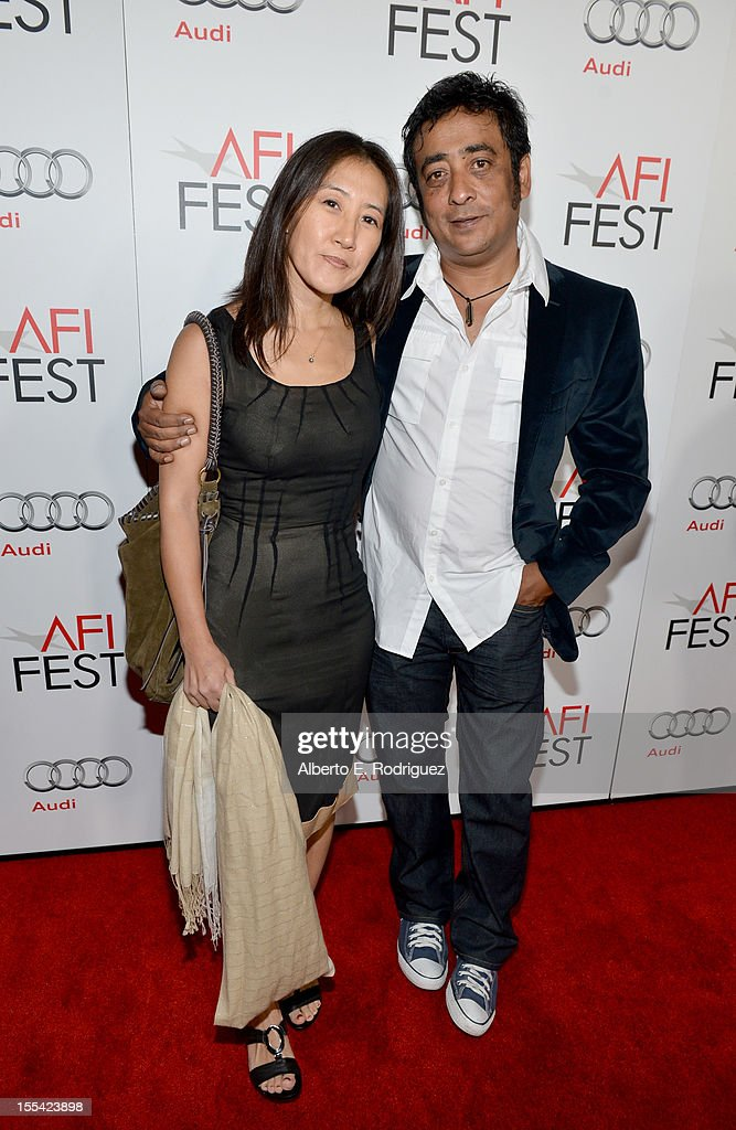 Producer Yoon Cho (L) and director Anirban Roy arrive at the 'Holy Motors' special screening during the 2012 AFI Fest at Grauman's Chinese Theatre on November 3, 2012 in Hollywood, California.