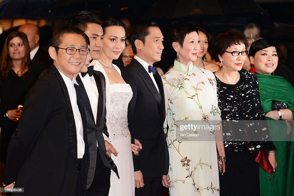 Producer Yu Tsang, director Flora Lau, actor Chen Kun, actress <a gi-track='captionPersonalityLinkClicked' href=/galleries/search?phrase=Carina+Lau&family=editorial&specificpeople=663580 ng-click='$event.stopPropagation()'>Carina Lau</a>, actor Tony Leung and producer <a gi-track='captionPersonalityLinkClicked' href=/galleries/search?phrase=Nansun+Shi&family=editorial&specificpeople=2229175 ng-click='$event.stopPropagation()'>Nansun Shi</a> attend the 'Bends' Premiere during The 66th Annual Cannes Film Festival at the Palais des festivals on May 18, 2013 in Cannes, France.