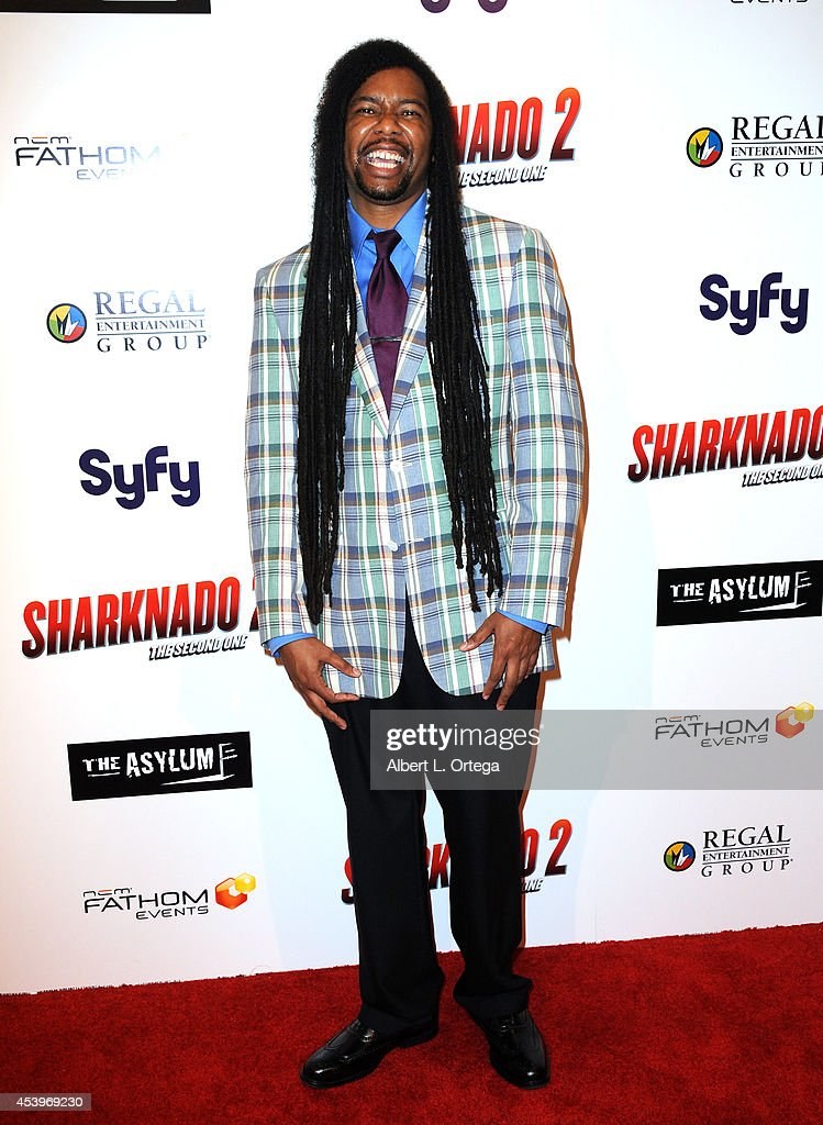 Producer Zerzsez Thompson arrives for the Premiere Of The Asylum & Fathom Events' 'Sharknado 2: The Second One' held at Regal Cinemas L.A. Live on August 21, 2014 in Los Angeles, California.