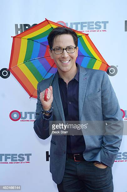 Producer/actor Dan Bucatinsky arrives at the 2014 Outfest Los Angeles panel discussion of the film 'It Got Better' at DGA Theater on July 20 2014 in...