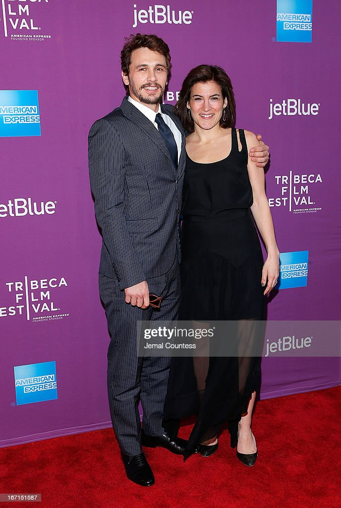 Producer/actor <a gi-track='captionPersonalityLinkClicked' href=/galleries/search?phrase=James+Franco&family=editorial&specificpeople=577480 ng-click='$event.stopPropagation()'>James Franco</a> and programmer Genna Terranova attend 'The Director' World Premiere during the 2013 Tribeca Film Festival on April 21, 2013 in New York City.