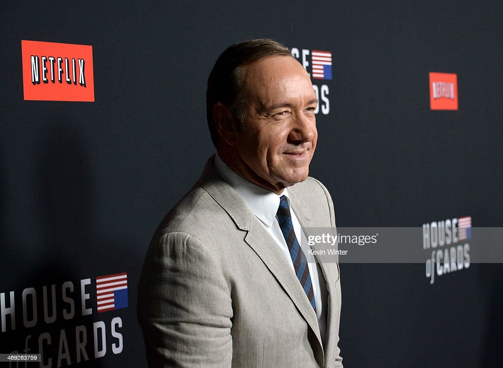 Producer/actor Kevin Spacey arrives at the special screening of Netflix's 'House of Cards' Season 2 at the Directors Guild Of America on February 13...