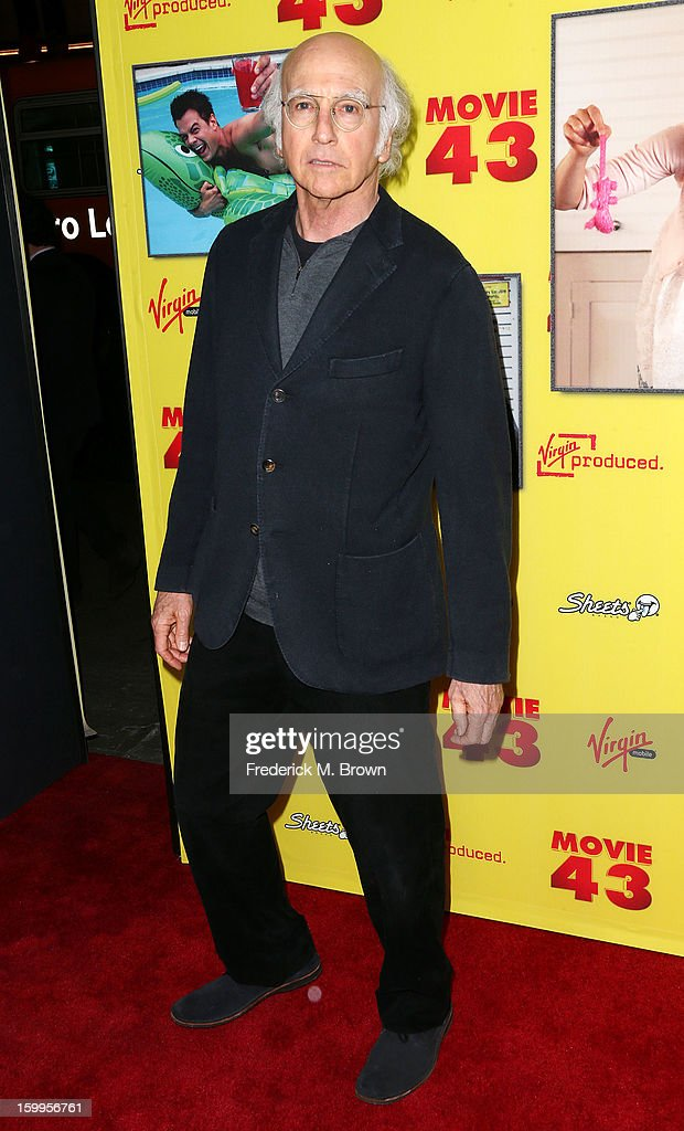 Producer/actor <a gi-track='captionPersonalityLinkClicked' href=/galleries/search?phrase=Larry+David&family=editorial&specificpeople=125184 ng-click='$event.stopPropagation()'>Larry David</a> attends the Premiere Of Relativity Media's 'Movie 43' at the TCL Chinese Theatre on January 23, 2013 in Hollywood, California.