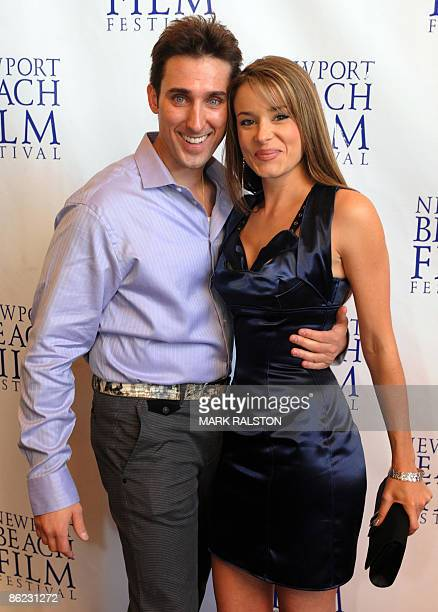 Producer/Actor Paul Alessi and actress Serah D'Laine arrive for the premiere of the film 'Knuckle Draggers' at the Newport Beach Film Festival in Los...