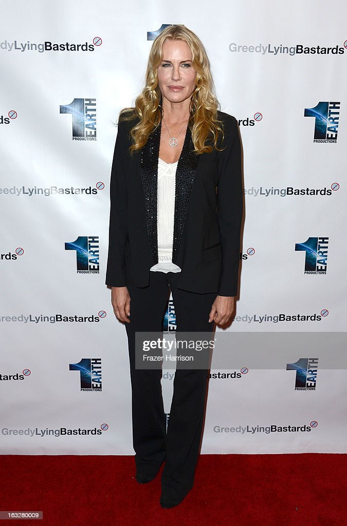 Producer/actress Daryl Hannah arrives at the screening of 'Greedy Lying Bastards' at Harmony Gold Theatre on March 6, 2013 in Los Angeles, California.