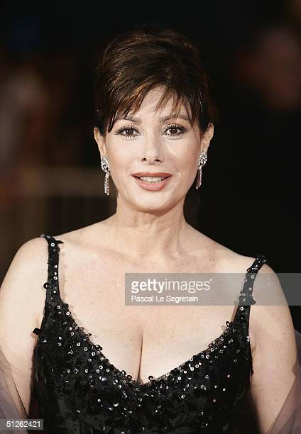 Producer/Actress Edwige Fenech attends the 'The Merchant Of Venice' Premiere at the 61st Venice Film Festival on September 4 2004 in Venice Italy