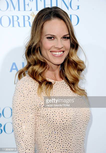 Producer/actress Hilary Swank arrives at the premiere of Warner Bros 'Something Borrowed' held at Grauman's Chinese Theatre on May 3 2011 in...