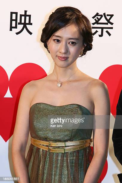 Producer/actress Kiki Sugino attends the Tokyo International Film Festival Opening Ceremony on October 17 2013 in Tokyo Japan