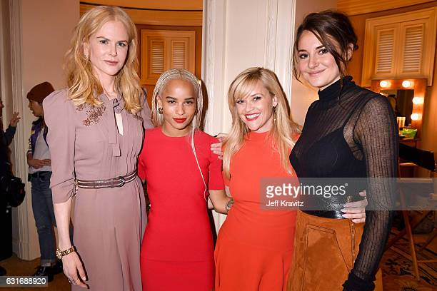 Producer/actress Nicole Kidman actress Zoe Kravitz producer/actress Reese Witherspoon and actress Shailene Woodley of the limited series 'Big Little...