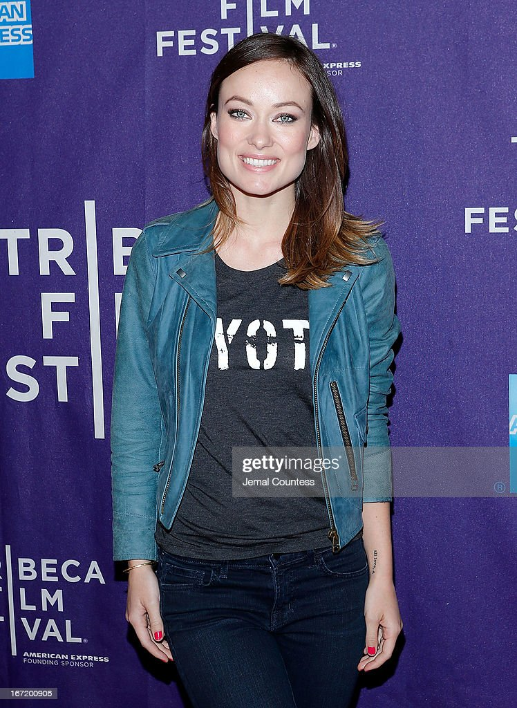 Producer/actress <a gi-track='captionPersonalityLinkClicked' href=/galleries/search?phrase=Olivia+Wilde&family=editorial&specificpeople=235399 ng-click='$event.stopPropagation()'>Olivia Wilde</a> attends 'The Rider And The Storm' Screening during the Shorts Program at the 2013 Tribeca Film Festival on April 22, 2013 in New York City.