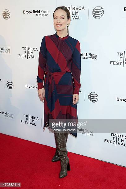 Producer/actress Olivia Wilde attends the Shorts Program World Premiere her film 'Body Team 12' during the 2015 Tribeca Film Festival at Regal...