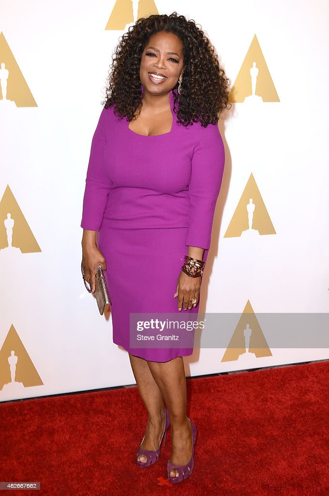 Producer/actress Oprah Winfrey attends the 87th Annual Academy Awards Nominee Luncheon at The Beverly Hilton Hotel on February 2 2015 in Beverly...