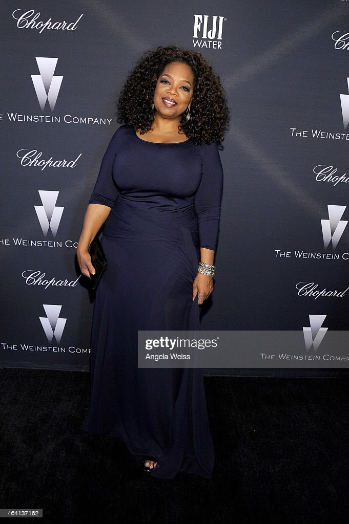 Producer/actress Oprah Winfrey attends The Weinstein Company's Academy Awards Nominees Dinner in partnership with Chopard, DeLeon Tequila, FIJI Water and MAC Cosmetics on February 21, 2015 in Los Angeles, California.