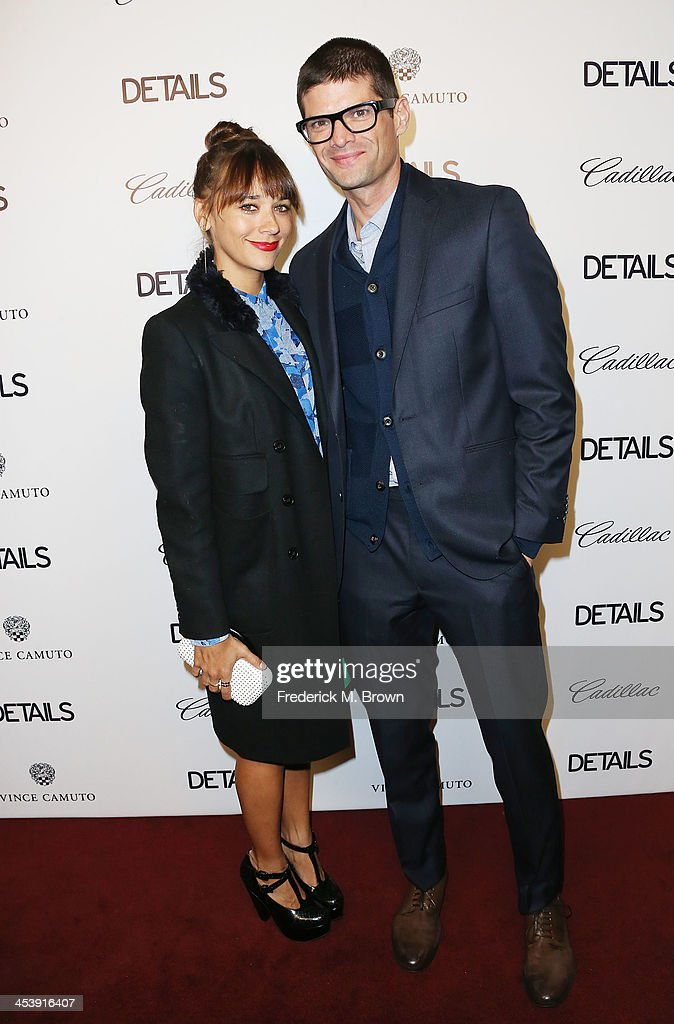 Producer/actress <a gi-track='captionPersonalityLinkClicked' href=/galleries/search?phrase=Rashida+Jones&family=editorial&specificpeople=2133481 ng-click='$event.stopPropagation()'>Rashida Jones</a> (L) and producer Will McCormack attend DETAILS Celebrates The 2013 Hollywood Mavericks at the Soho House on December 5, 2013 in West Hollywood, California.
