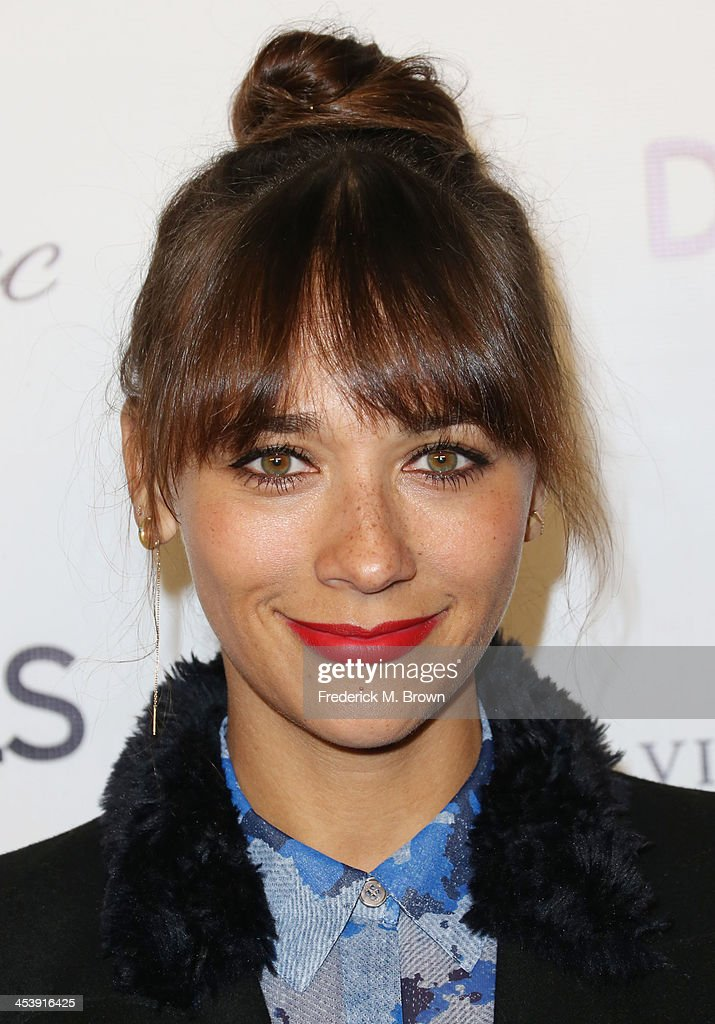 Producer/actress <a gi-track='captionPersonalityLinkClicked' href=/galleries/search?phrase=Rashida+Jones&family=editorial&specificpeople=2133481 ng-click='$event.stopPropagation()'>Rashida Jones</a> attends DETAILS Celebrates The 2013 Hollywood Mavericks at the Soho House on December 5, 2013 in West Hollywood, California.