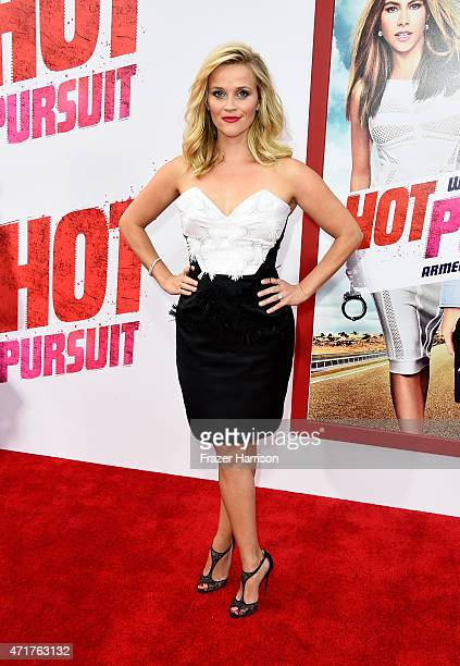 Producer/actress Reese Witherspoon attends the Premiere Of New Line Cinema And MetroGoldwynMayer's 'Hot Pursuit' at TCL Chinese Theatre on April 30...