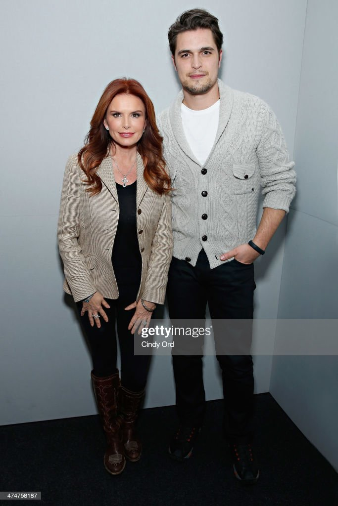 Producer/actress Roma Downey and actor Diogo Morgado attend Meet the Filmmakers 'Son Of God' at Apple Store Soho on February 24 2014 in New York City