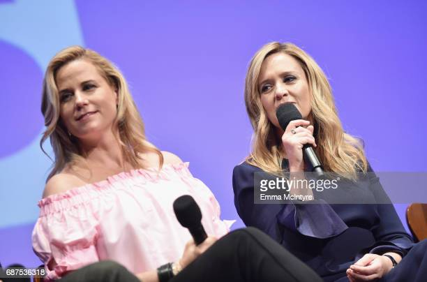 Producer/contributer Allana Harkin and Executive producer/host Samantha Bee speak onstage at the Full Frontal with Samantha Bee FYC Event 2017 LA at...