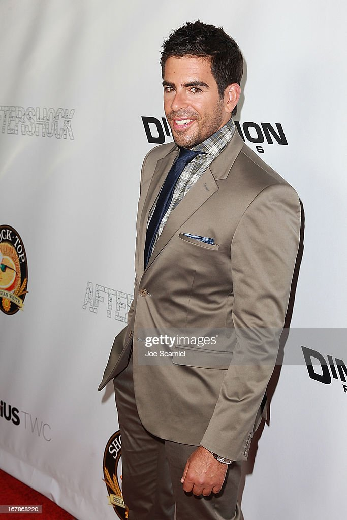 Producer/Co-Writer and Actor Eli Roth arrives at the 'AFTERSHOCK' premiere presented by Dimension Films and RADiUS-TWC in partnership with Shock Top - Red Carpet on May 1, 2013 in Los Angeles, California.