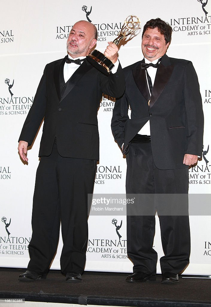 Producer/director Claudio Torres (L) and Writer Mauro Wilson attend the 40th International Emmy Awards on November 19, 2012 in New York City.