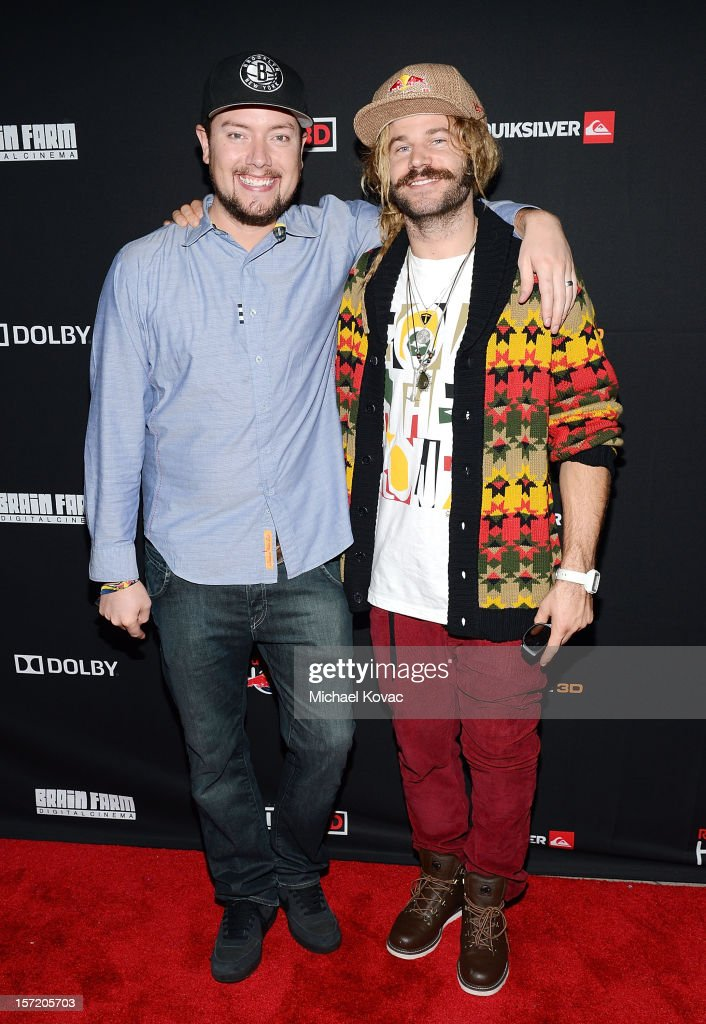 Producer/director Curt Morgan (L) and Red Bull snowboard athlete John Jackson attend the Los Angeles Screening of The Art of Flight 3D at AMC Criterion 6 on November 29, 2012 in Santa Monica, California.