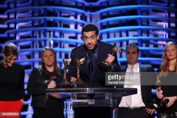 Producer/director Ezra Edelman accepts the Best Documentary Feature award for ''OJ Made in America' onstage during the 2017 Film Independent Spirit...
