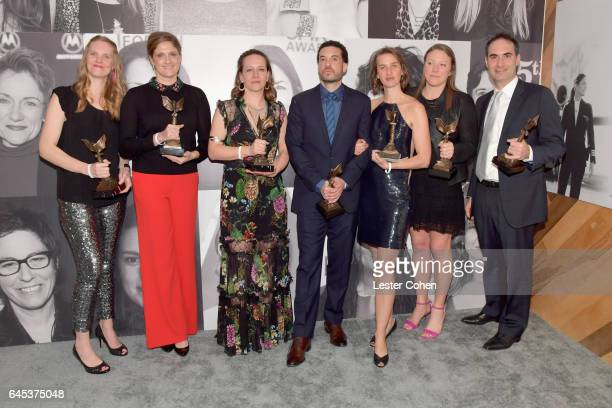 Producer/director Ezra Edelman and fellow producers of ''OJ Made in America' winner of the best Documentary Award attends the 2017 Film Independent...