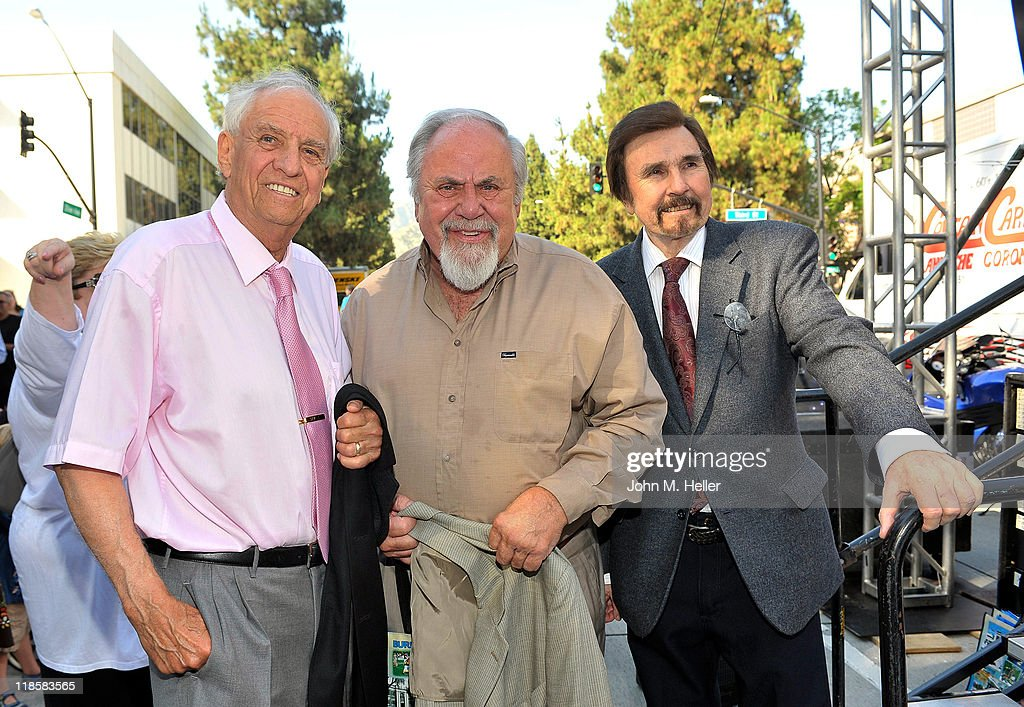 Producer/director Gary Marshall producer George Schaltter and actor Gary Owens attend the Beautiful Downtown Burbank Grand Centennial Party in...