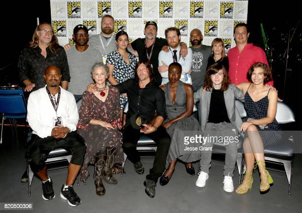 Producer/director Greg Nicotero actor Lennie James writer/producer Robert Kirkman actor Jeffrey Dean Morgan writer/producer Scott M Gimple actor...