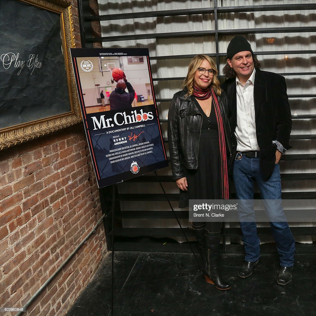 Producer/director Jill Campbell (L) and producer Gregory Gerhard attend the after party for 'Mr. Chibbs' during DOC NYC held at The Loft in Flatiron on November 12, 2016 in New York City.