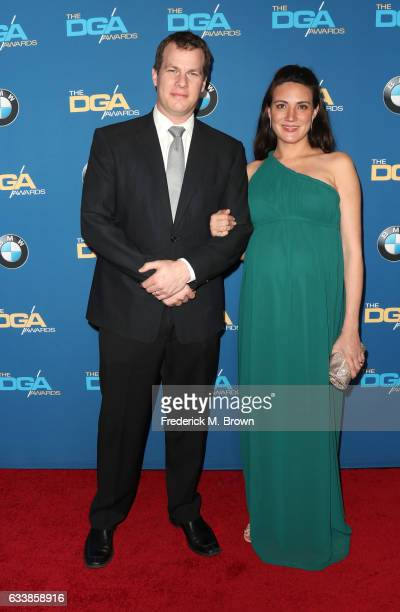 Producer/director Jonathan Nolan and producer Lisa Joy attend the 69th Annual Directors Guild of America Awards at The Beverly Hilton Hotel on...