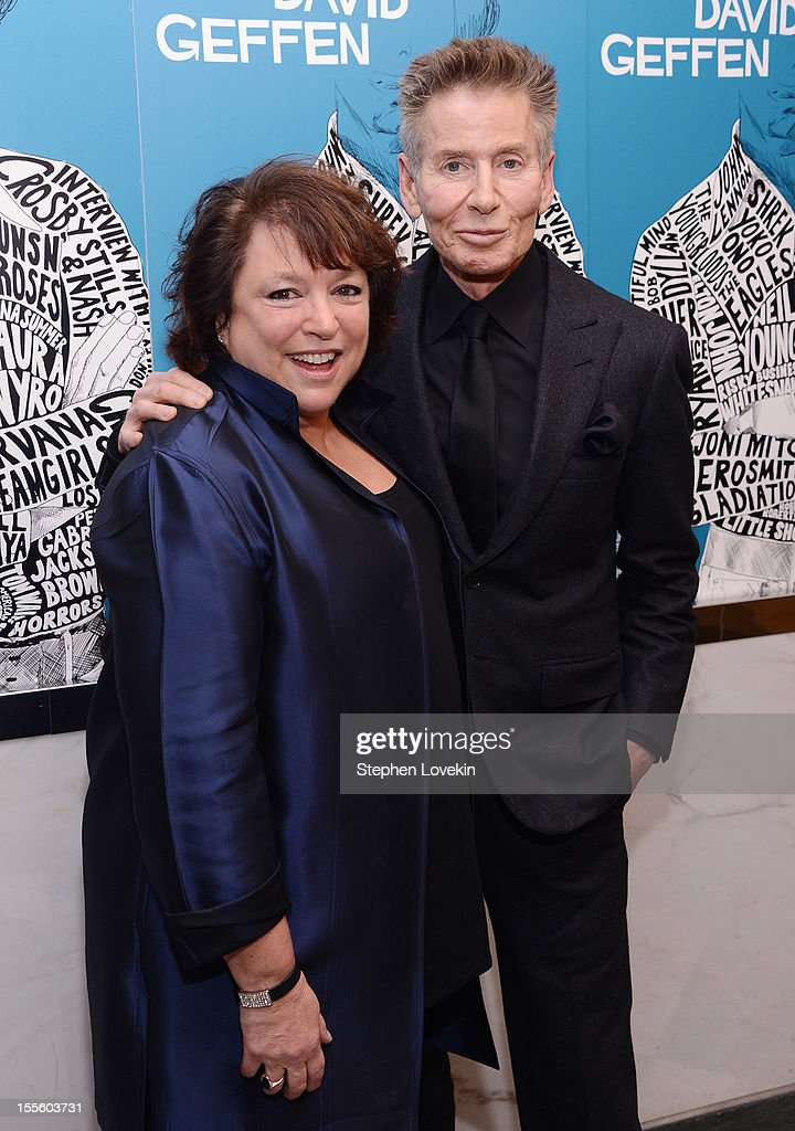 Producer/director Susan Lacy and designer Calvin Klein attend the 'Inventing David Geffen' New York Premiere at Paris Theater on November 5, 2012 in New York City.