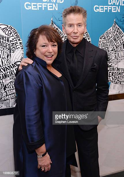Producer/director Susan Lacy and designer Calvin Klein attend the 'Inventing David Geffen' New York Premiere at Paris Theater on November 5 2012 in...