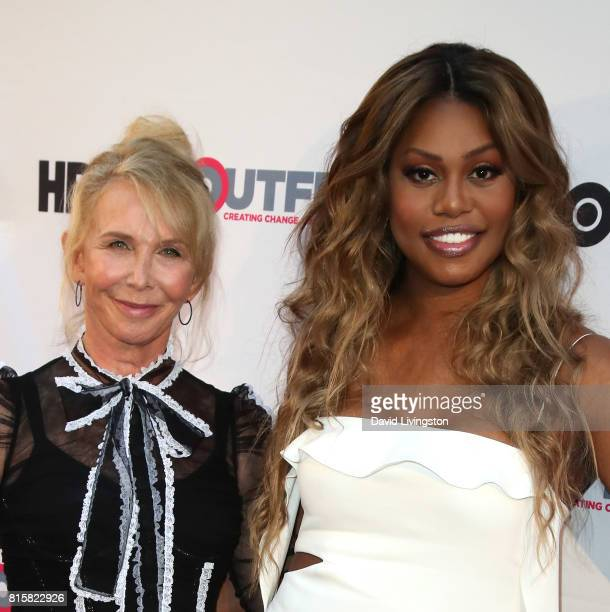 Producer/director Trudie Styler and actress Laverne Cox attend the 2017 Outfest Los Angeles LGBT Film Festival closing night gala screening of 'Freak...