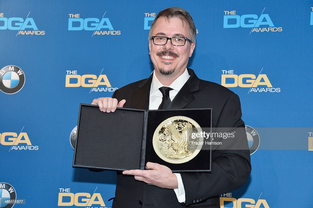 Producerdirector Vince Gilligan winner of the Outstanding Directorial Achievement in Dramatic Series for the 'Breaking Bad' episode 'Felina' poses in...