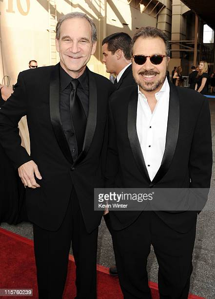Producer/directors Marshall Herskovitz and Edward Zwick arrive at the 39th AFI Life Achievement Award honoring Morgan Freeman held at Sony Pictures...