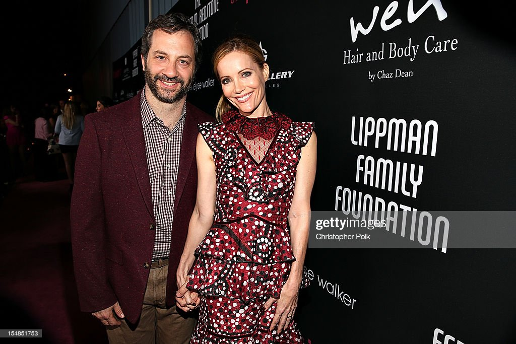 Producer/director/screenwrite <a gi-track='captionPersonalityLinkClicked' href=/galleries/search?phrase=Judd+Apatow&family=editorial&specificpeople=854225 ng-click='$event.stopPropagation()'>Judd Apatow</a> and actress Leslie J. Mann arrive at Elyse Walker presents the 8th annual Pink Party hosted by Michelle Pfeiffer to benefit Cedars-Sinai Women's Cancer Program held at