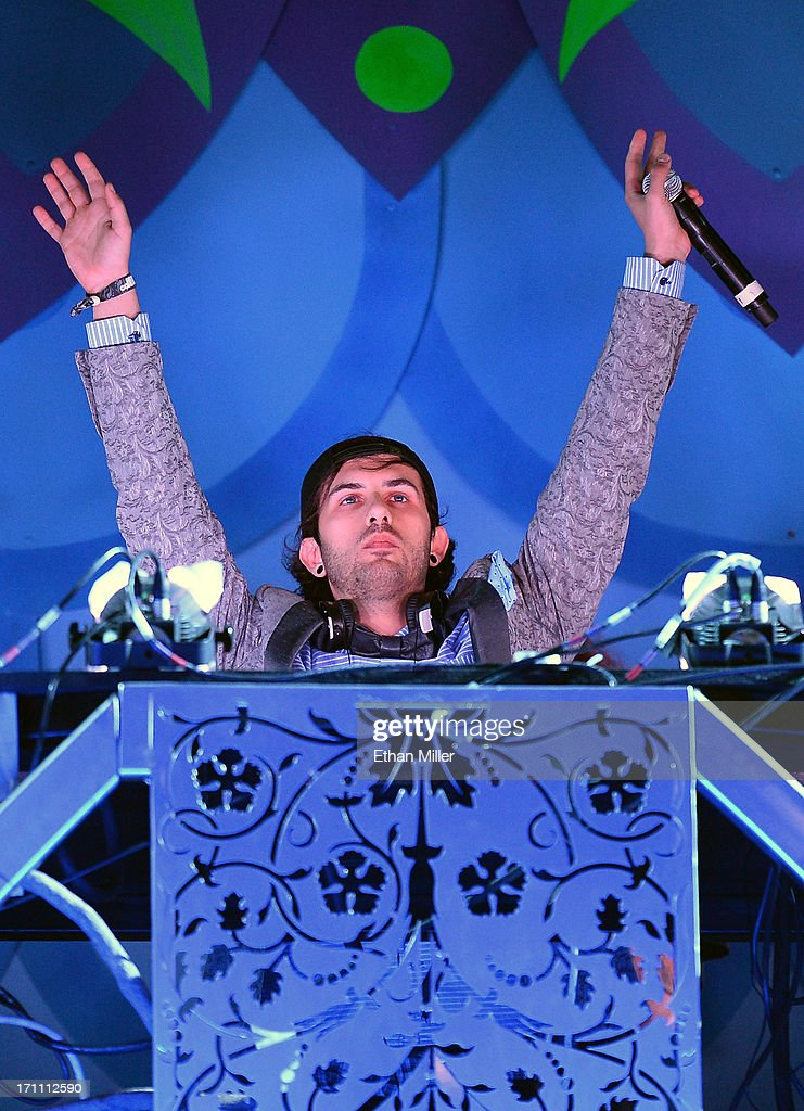 Producer/DJ Borgore performs at the 17th annual Electric Daisy Carnival at Las Vegas Motor Speedway on June 22, 2013 in Las Vegas, Nevada.