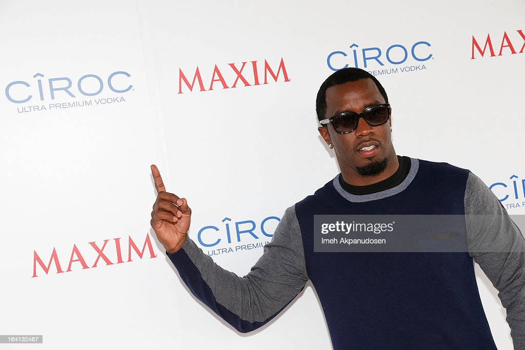 Producer/entrepreneur <a gi-track='captionPersonalityLinkClicked' href=/galleries/search?phrase=Sean+Combs&family=editorial&specificpeople=178993 ng-click='$event.stopPropagation()'>Sean Combs</a> attends the Ciroc and Maxim celebration of the National Day of Honor at Marine Corps Air Station on March 19, 2013 in San Diego, California.
