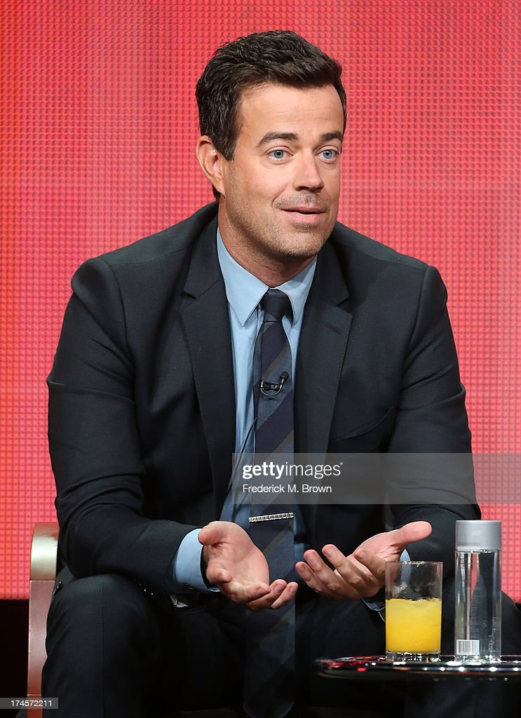 Producer/Host <a gi-track='captionPersonalityLinkClicked' href=/galleries/search?phrase=Carson+Daly&family=editorial&specificpeople=202941 ng-click='$event.stopPropagation()'>Carson Daly</a> speaks onstage during 'The Voice' panel discussion at the NBC portion of the 2013 Summer Television Critics Association tour - Day 4 at the Beverly Hilton Hotel on July 27, 2013 in Beverly Hills, California.