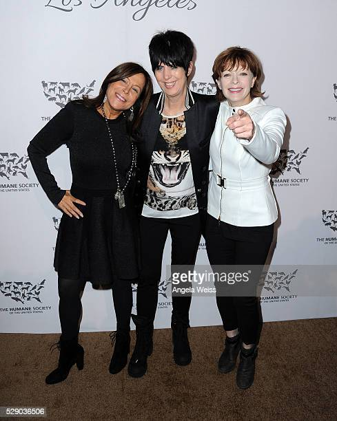 Producer/manager Joanne Horowitz songwriter Diane Warren and actress Frances Fisher attend The Humane Society of the United States' to the Rescue...