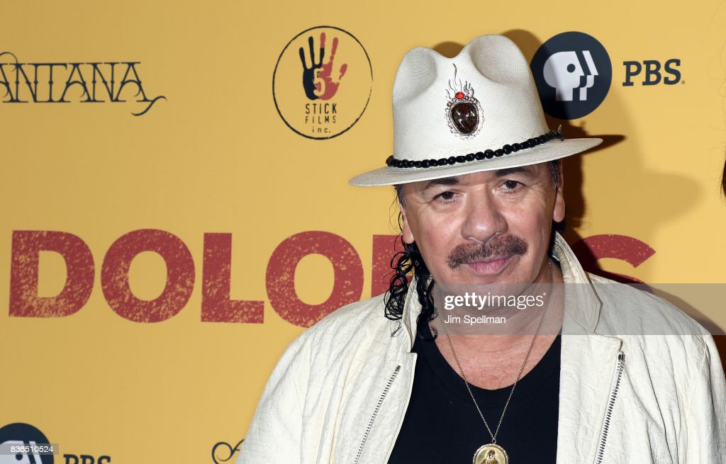 Producer/musician Carlos Santana attends the 'Dolores' New York premiere at The Metrograph on August 21, 2017 in New York City.