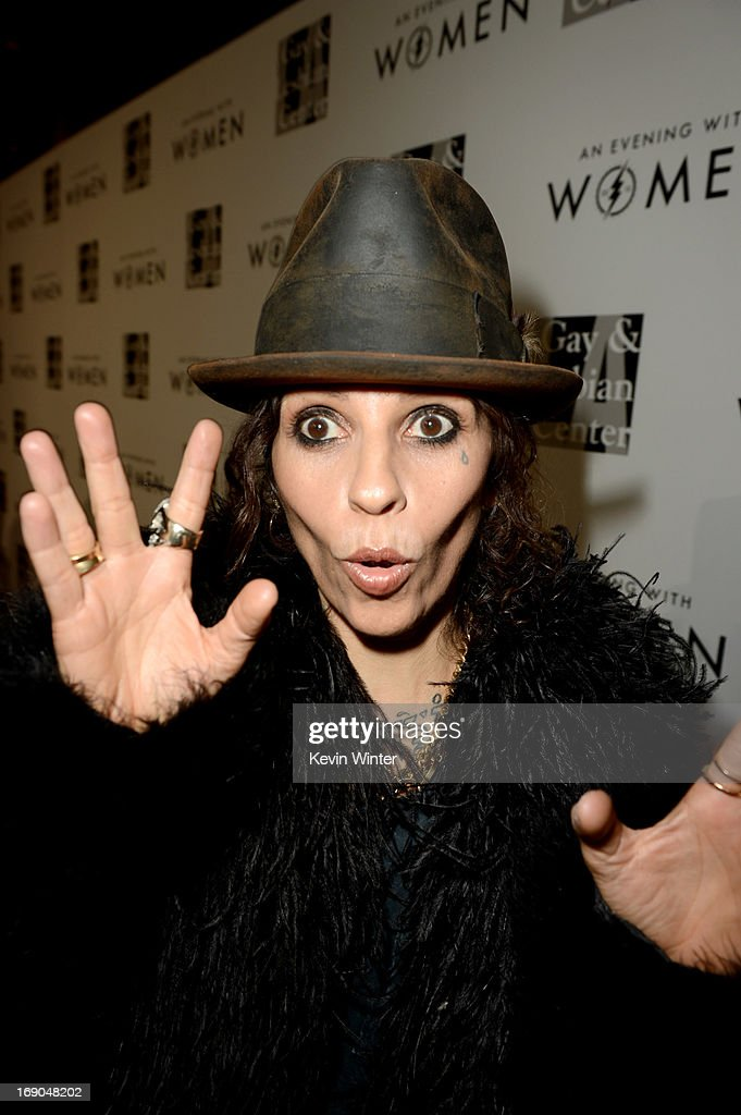 Producer/musician <a gi-track='captionPersonalityLinkClicked' href=/galleries/search?phrase=Linda+Perry&family=editorial&specificpeople=2133172 ng-click='$event.stopPropagation()'>Linda Perry</a> arrives at An Evening With Women benefiting The L.A. Gay & Lesbian Center at the Beverly Hilton Hotel on May 18, 2013 in Beverly Hills, California.
