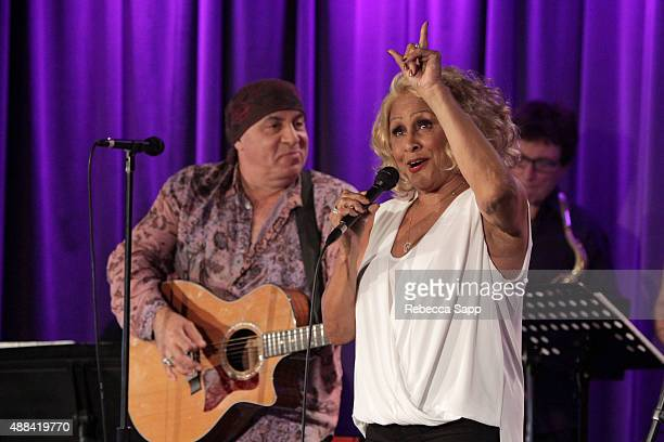 Producer/musician Stevie Van Zandt and vocalist Darlene Love perform at An Evening With Darlene Love at on September 15 2015 in Los Angeles California