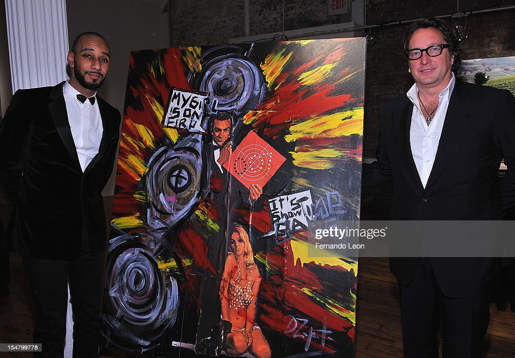 Producer/philanthropist Swizz Beatz and Harbinger Capital founder Phil Falcone attend Haute Living Honors its partner Swizz Beatz with a Louis XIII...