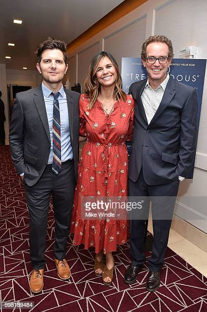 Producers Adam Scott Naomi Scott and Sam Bisbee attend the premiere of Vertical Entertainment's 'Other People' at The London West Hollywood on August...