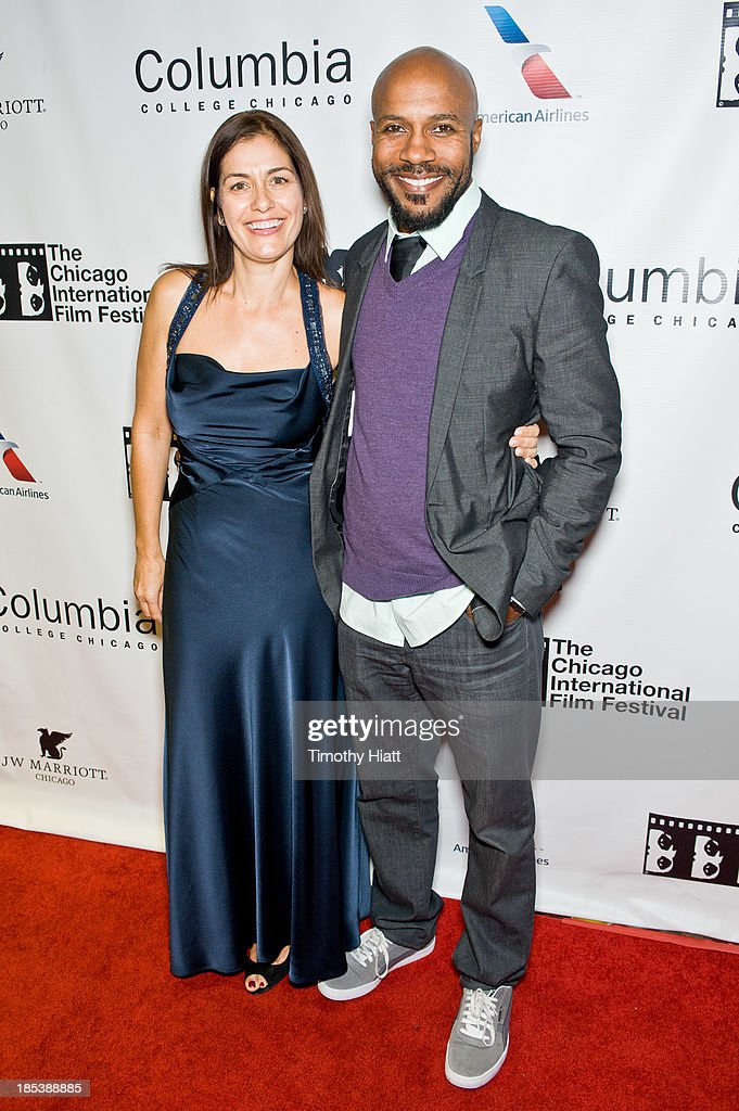 Producers Albena Dodeva and Danny Green attends the 'H4' premiere at AMC River East Theater on October 19, 2013 in Chicago, Illinois.